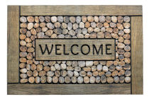 ECO Master Welcome framed pebbles