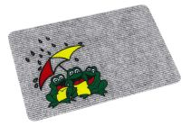 Flocky mat frogs